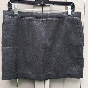 Sandro Gray Shiny Skirt Size 3